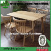 Oak Wood Home Furniture Dining Table with 4 Chairs (W-DF-0678)