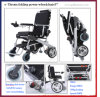 Goldne Motor 8′′, 10′′ 12′′ E-Throne Lightweight Foldable Electric Wheelchair /Electric Folding Wheelchair/Brushless Wheelchair