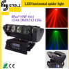 8 *10W RGBW 4in1 Horizontally LED Moving Head Spider