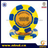 13G 2-Tone Clay Casino Design Poker Chip with Custom Sticker