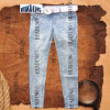 Ladies′ Denim Jeans with Seven Socks of Manual Nail Pearl (HDLJ0008)