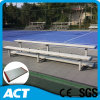 Steel Tribune Retractable Seating System Metal Gym Bench