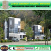 Steel Structure Two Story Well Insulated Solar Wooden Prefab House