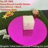 4mm Medium Round Rose Glass Mirror Candle Holder