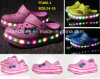 Children Flash Luminous Lights LED Shoes Garden Beach Shoes (FF406-1)
