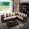 Top Quality Synthetic Rattan Outdoor Garden Furniture Cornor Sofa Set (YT611)