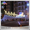 Tinsel Outdoor LED Christmas Standing Reindeer with Sleigh Light