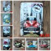 Vintage Metal Tin Signs with Designs of Cars, Motorbikes, Tractors, Metal Craft