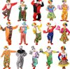 Carnival Clown Jester Cosplay Suit Costumes for Halloween Christmas Birthday Party, Various Designs