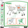 Hyper Market Zinc Plated Shopping Trolley Cart with Rubber Wheels