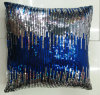 Sequin Embroidery Cushion Fashion Decorative Pillow (XPL-17)