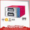 Stainless Steel Electric Pizza Oven with 2 Door 2 Decks