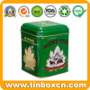 Metal Can Tea Caddy Packaging 3D Embossed Tea Tin Box
