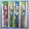 Anti-Slip Handle Toothbrush with Tongue Cleaner