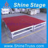 Aluminium Mobile Folding Stage, Toughened Glass Stage