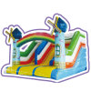Cheer Amusement Rainbow Windmills Castle Themed Inflatable Slide