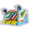 Cheer Amusement Rainbow Windmills Castle Themed Inflatable Slide