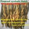 Fireproof Artificial Africa Thatch Roof Bali Tiki Bar Hawaii Tiki Hut Synthetic Thatched Cottage Islands Resorts Thatched House Thatch
