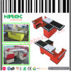 Supermarket Store Electronic Checkout Counter Register Desk with Belt