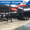 40FT Air Suspension Container Transport Skeletal Semi Trailer with Front Lift Axle