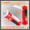 Portabl Solar Torch with 1W Flashlight, Reading Lamp (SH-1908A)