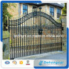 Canton Fair High Qualtiy Strong Safety Decrotive High Spear Top Wrought Iron Gate Solid Gate for Driveway, Garden or Vellia