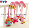 Cute Pink Animal Style Plush Baby Bed Hanging Toys with Music Box in High Quanlity