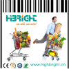 Hypermarket Retail Store Shopping Trolley Cart