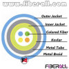 4fibers Indoor Armor Cable with Metal Tube & Braid Colored Fiber