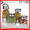 Various Size for Choice Stainless Steel Coated Glass Jar Fot Storage