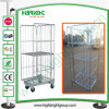Wire Metal Storage Laundry Cart with Four Wheels