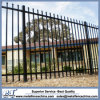 Australia Style Outdoor Black Powder Coated Steel Fence