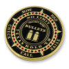 Rocket Aces Bullets Poker Logo Soft Enamel Souvenir Coin