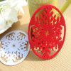 Colorful Home Decorative Flowers Shape Felt Coasters