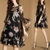 Fashion Women Chiffon Dress with Floral Print (A130)