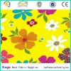 No White PVC Vogue Multi-Color Polyester Flowers Printed Fabric