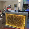 Customized Ready Made Curved Home Color Changing LED Modern Bar Counter Design