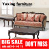 Classic Fabric Couch American Antique Wood Trim Living Room Sofa for Home Furniture Set