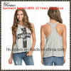 Top Fashional Ladies Round Neck Sleeveless Vintage Printing Vest (SK605)