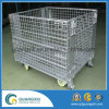 Metal Wire Mesh Container with 4 Wheels