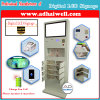 Mobile Charging Station Kiosk with Digital LCD Advertisement Screen Display
