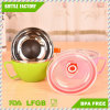 Easy Life Stainless Steel Bento Lunch Cup Box, Double-Lids Food Storage Container with Anti-Scalding Effect for Food
