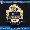 Customized Die Struck Gold Plated Metal Badge