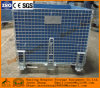 Foldable Wire Mesh Storage Cage Storage Container Wire Mesh Basket with PP Sheet