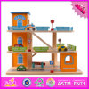 2016 New Products Children Wooden Parking Lot Set Toys W04b036