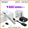 Seego Patented Portable Vaporizer Self Cleaning Kit Vhit Reload W&D 2 in 1 E-Cig Vape with Glass Globe