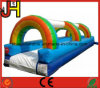 Cheap Outdoor Rainbow Inflatable Slip N Slide with Pool