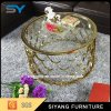 Elegance Gold Glasss Round Coffee Table for Sale