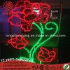 Multicolor Ce RoHS LED Decoration 2D Flower LED Motif Light