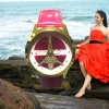 Yxl-065 Fashion Ladies Wrist Shinny Leather Belt Quartz Watch with Stock Available